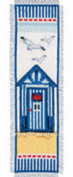 Beach Hut Bookmark Cross Stitch Kit
